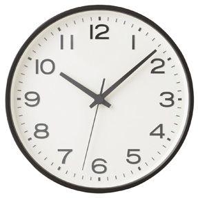 Muji Analogue Clock - Large - Black,  26.4 x 4.5cm, £35.95. Fukasawa for Muji. Three clocks showing different time zones. London, San Francisco, Melbourne.