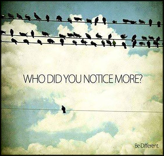 Who did you notice more? Be Different