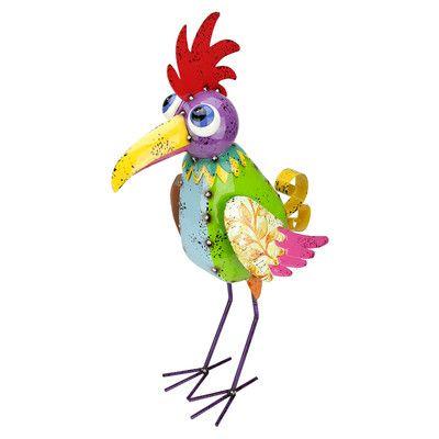 NorthlightSeasonal Speckled Metal Rooster Bird Figurine