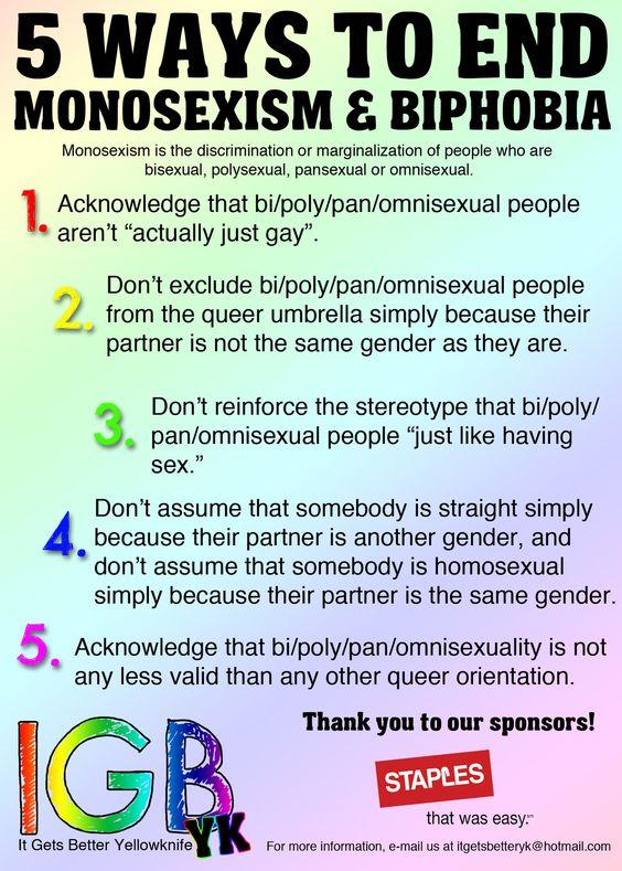 5 Ways to End Monosexism & Biphobia