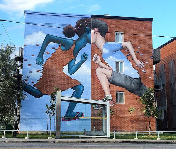 Seth GlobePainter creates a new mural in Montreal, Canada