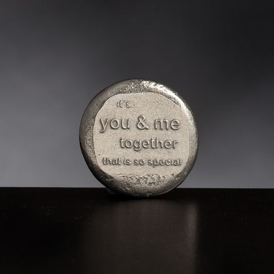 Its you and me together that is so special. Pewter Keepsake from Lancaster and Gibbings