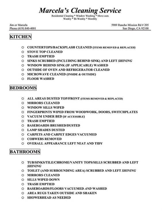 housekeeping checklist House-Keeping-Cleaning-Checklistg - sample resume of housekeeping