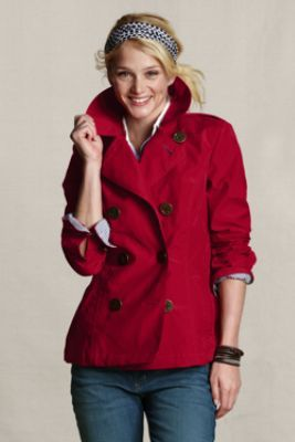 Women's Bonded Pea Coat from Lands' End Canvas. On sale for $90