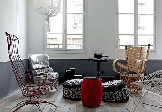Paola Navone's Paris apartment, via nestpearls.blogspot.fr