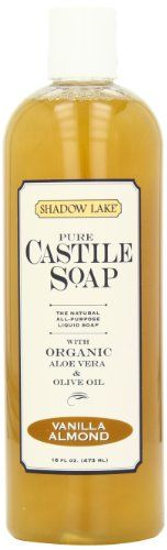 Shadow Lake Castile Soap Liquid, Vanilla Almond, 16-Ounce Bottles (Pack of 6) Shadow Lake http://www.amazon.com/dp/B0012JGHTQ/ref=cm_sw_r_pi_dp_..YNtb1T4E1PPE1J