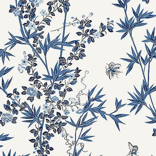 Scalamandre Jardin De Chine Porcelain Wallpaper In 2020