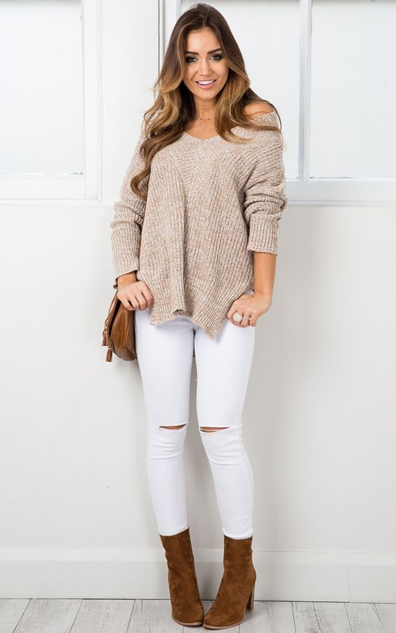 With Conviction knit in mocha marle SHOWPO Fashion Online