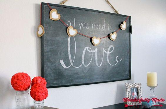 Wonderfully Made: DIY Valentines Garland