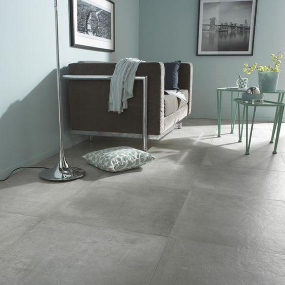 Carrelage sol cementina taupe 60 x 60 cm castorama - Carrelage gris clair leroy merlin ...