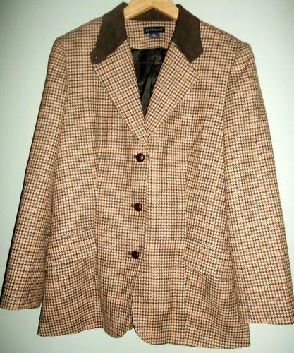 Vintage Ann Taylor 100% Wool Riding Jacket- Women's 16