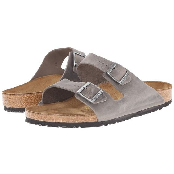 Birkenstock Arizona - Oiled Leather Sandals (165 CAD) ❤ liked on Polyvore