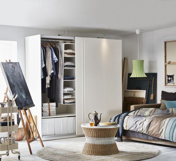 IKEA Österreich, Inspiration, Schlafzimmer, Schiebetür PAX HASVIK - teppich f amp uuml r schlafzimmer