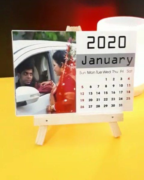 Order On 9409429434 2020 Photo Calendar With Wooden Stand 12