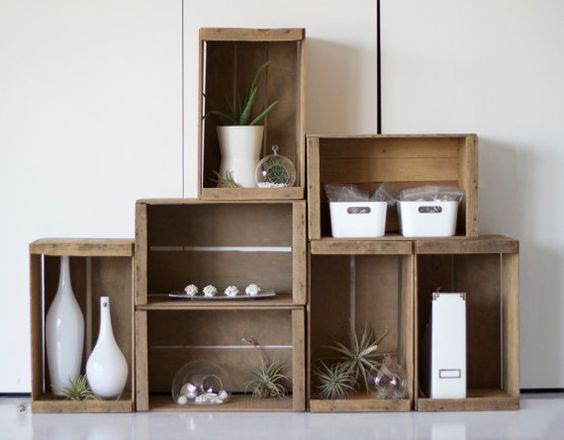 Natural Wood Apple Crate by LBrandt on Etsy, $32.00: Apple Crate Shelves, Crate Shelving, Apple Crates, Wood Boxes, Natural Wood, Wooden Crates, Wood Crates