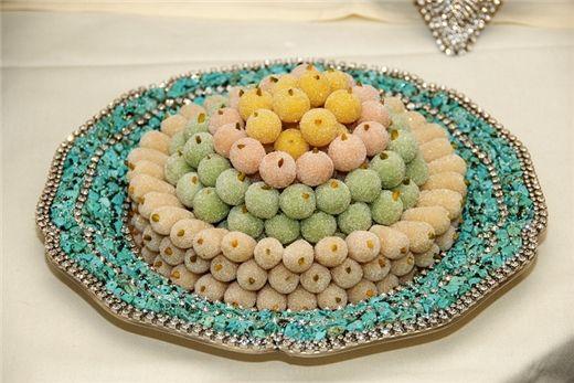 Tut, marzipan mulberries: