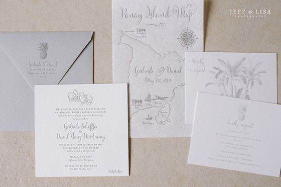 Charming Gray Wedding Invites | Photo: Jeff and Lisa Photography