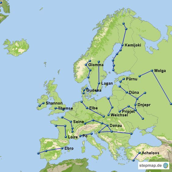 Europa Flusse Und Seen Im Europa Reisefuhrer Abenteurer Net