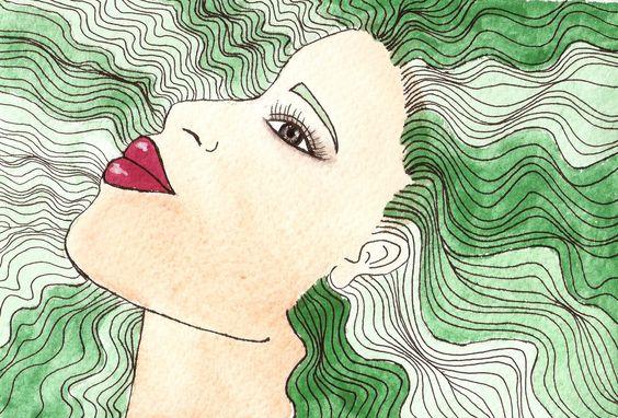 RETRATOS SIMPLES | Lola Kabuki Acuarela, pintura, ilustración, watercolor, art, art, ilustration