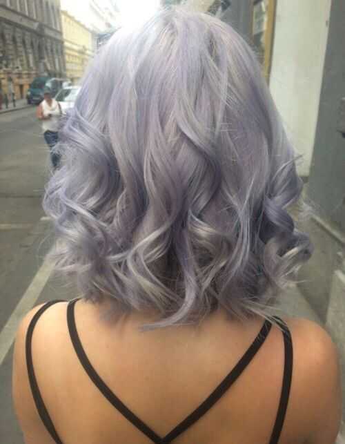 pinterest @esib123  short lob in pastel hair color