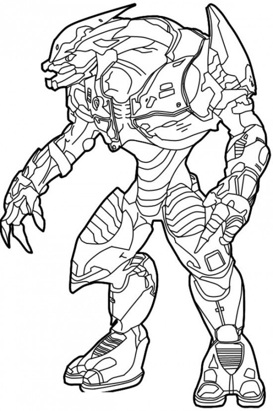 Ghost From Halo Coloring Coloring Pages