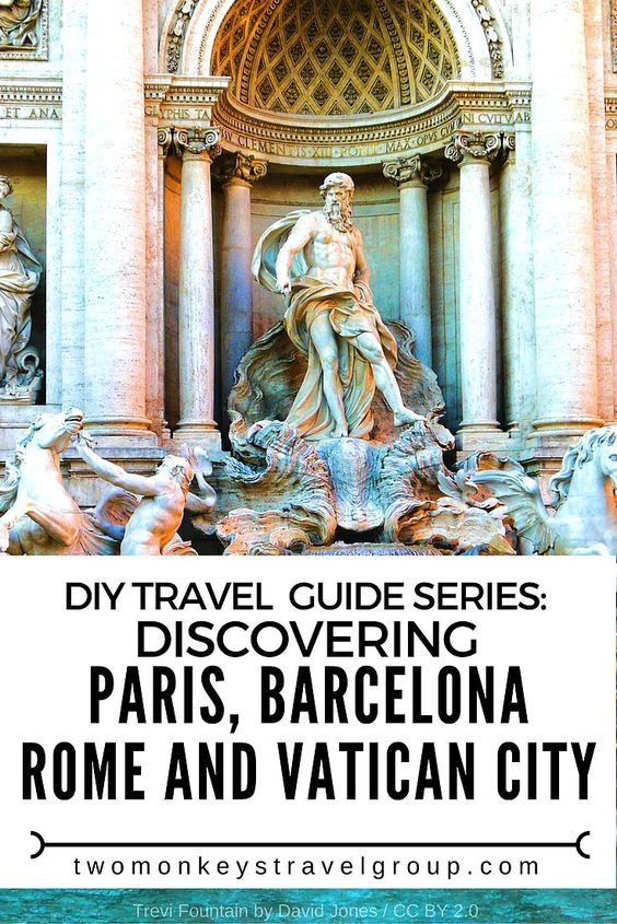 DIY Travel Guide Series: Discovering Paris, Barcelona, Rome and Vatican City  Exploring these 3 main destinations in Europe is really exciting and to save some precious pennies and your time you have to plan ahead and book most passes, attraction tickets and flights in advance. Discovering Paris, Barcelona, Rome and Vatican City all together!
