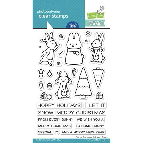 Christmas Let It Snow Clear Acrylic Stamps Lawn Fawn