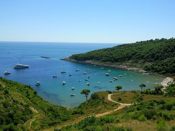 Playa de Sunj, Isla Lopud, Croacia