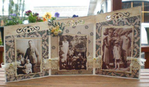 Drieluik met oude familiefoto's