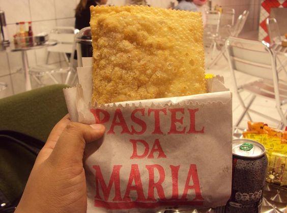 Pastel da Maria - o melhor de São Paulo - feira do Pacaembu