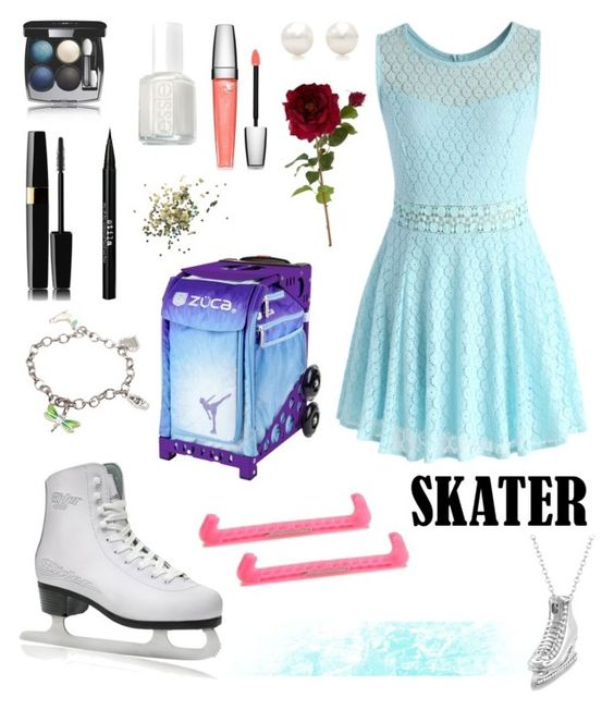 """""""Figure Skater"""" by oliviak267 ❤ liked on Polyvore featuring Tiffany & Co., Chicwish, Chanel, Stila, Essie, Topshop, Lancôme, Sia and Allurez"""
