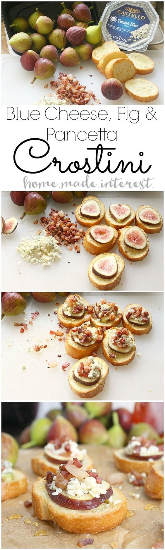 Blue Cheese Fig And Pancetta Crostini Recipe Simple