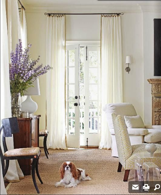 I Like Long Curtains And Of Course Paddio Doors
