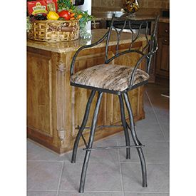 "Large South Fork Branch 30"" Barstool W/ 16"" Square Seat - Imagine how your bar or counter will be transformed by this fantastic barstool from the South Fork Branch line."