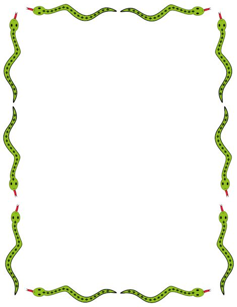 Cute snake border clip art. Free downloads at http://pageborders.org ...