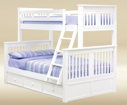 Timber Creek Twin Over Full Bunk Bed White White Bunk Beds Bunk