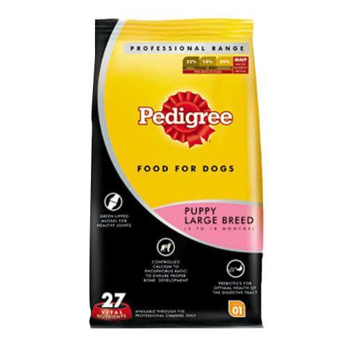 Shop Pedigree Professional Puppy Large Breed Premium 3 Kg Dog Food