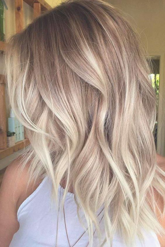 Frisuren frauen halblang blond