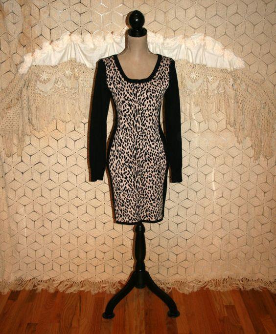Sweater Dress Long Sleeve Winter Dress Midi Black by MagpieandOtis