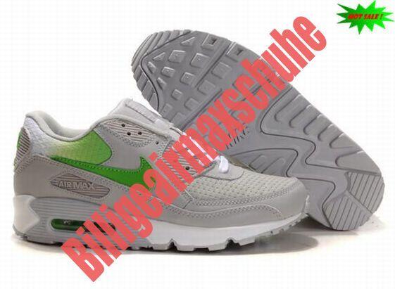 nike sneakers air max schwarz weiß grün grau