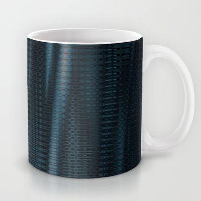 Pattern serie waves 1 blue Mug by Christine baessler - $15.00