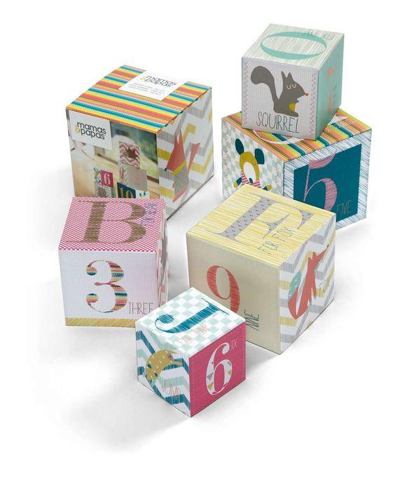 Patternology - Stacking Cubes - Patternology - Mamas & Papas #mamasandpapas #dreamnursery