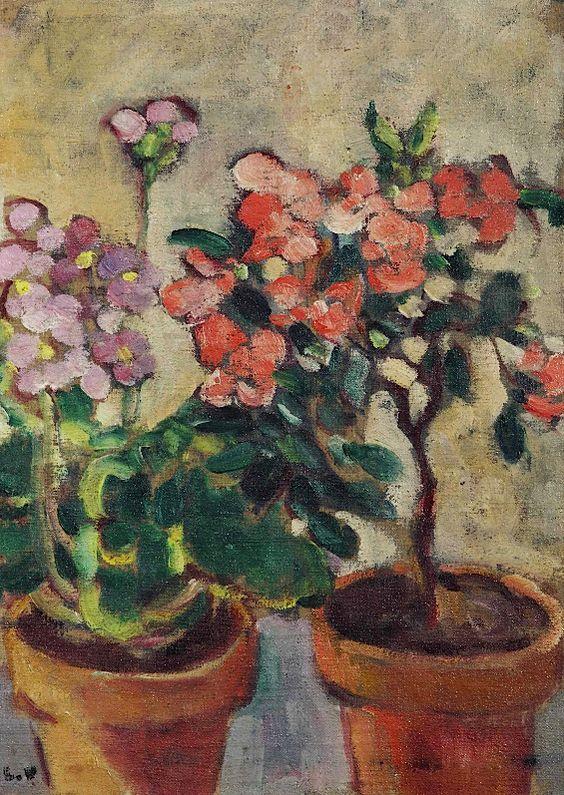 Louis Valtat (1869-1952)  Les deux pots de fleurs