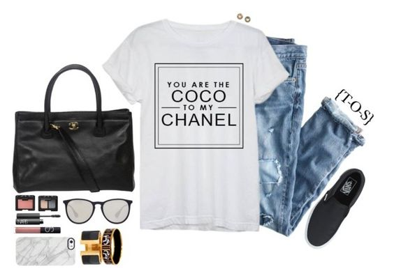 """""""we both went mad"""" by touch-of-sass ❤ liked on Polyvore featuring J.Crew, Chanel, David Yurman, NARS Cosmetics, Uncommon, Ray-Ban and Hermès"""