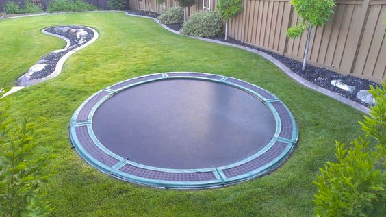 In-Ground Trampoline Kit | DudeIWantThat.com