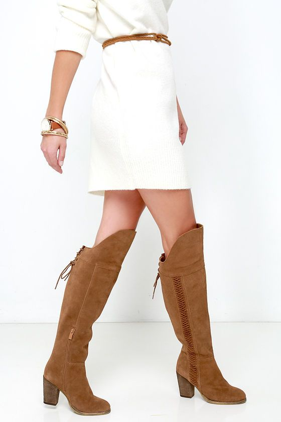 over the knee tan leather boots | Gommap Blog