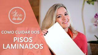 Todas as dicas para cuidar de pisos laminados e truques para tirar manchas. Confira mais este vídeo de Flávia Ferrari no #aDicadoDia