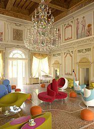 Das Byblos #Art #Hotel in Sann Pietro In Cariano befindet sich in einer beeindruckenden alten Villa aus dem 15. Jahrhundert mit bunten Wand- und Deckenfresken.