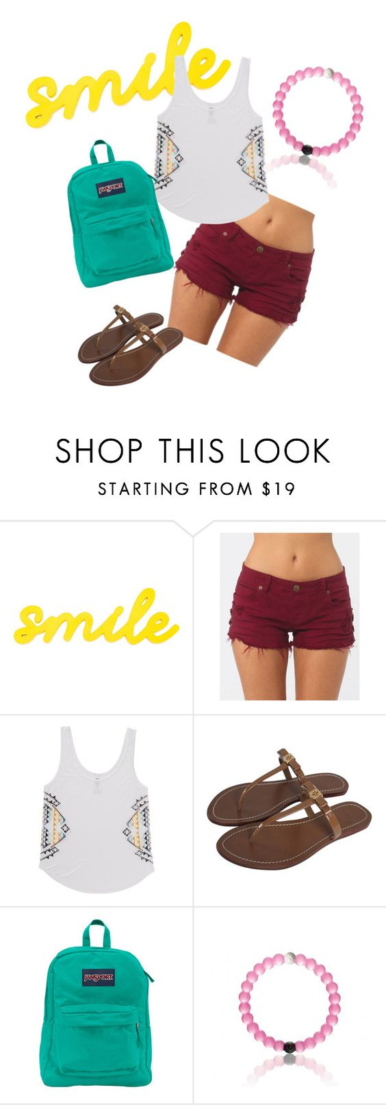 """""""Summer Days"""" by modernlooks ❤ liked on Polyvore featuring Billabong, Tory Burch and JanSport"""