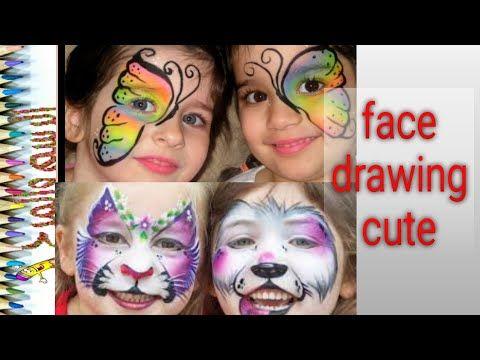 20 فكرة لرسومات الوجه للأطفال راااءعة Ideas For Face Drawig Youtube Face Face Drawing Funny Drawings